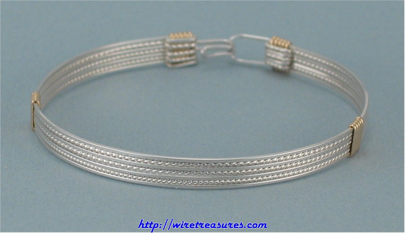 Closed Front Wire Bangle Bracelet