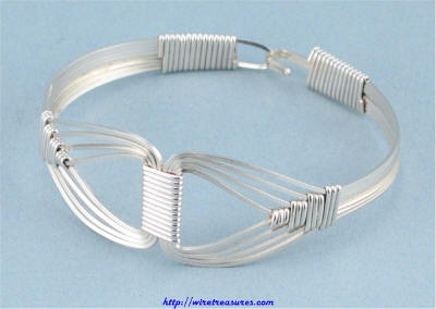Geometric Wire Bangle Bracelet