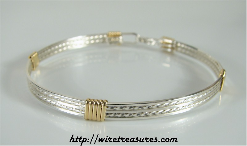 Closed Front Five-Wire Bangle Bracelet