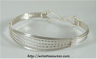 Open Front Wire Bangle Bracelet
