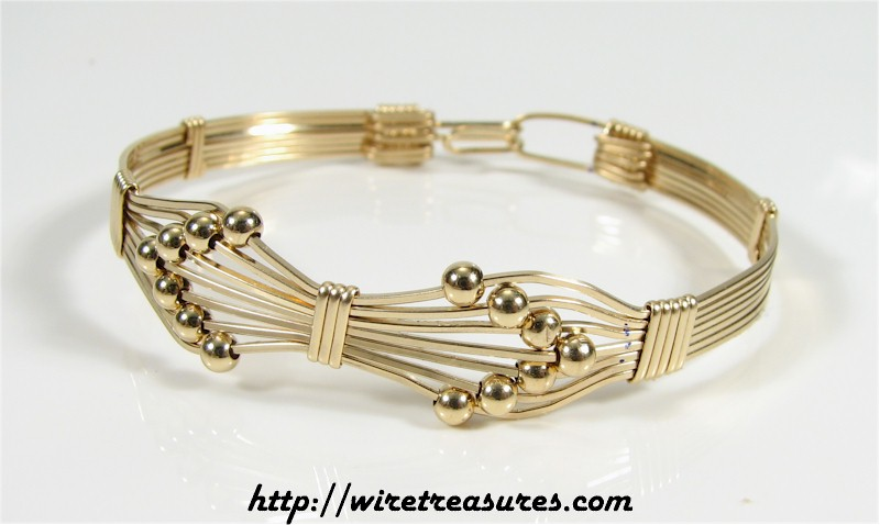Fourteen-Bead Bangle Bracelet