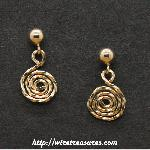 Curly Ball Post Earrings