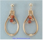 Goldstone Bead Earrings