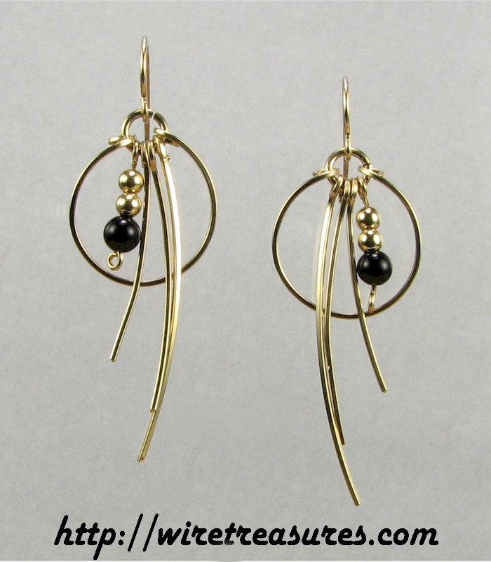 Indecision Earrings with Onyx Beads
