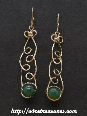 Loopy Aventurine Earrings
