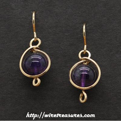 Amethyst Bead  Earrings
