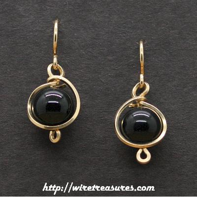 Onyx Ball Post Earrings