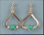 Chrysoprase Triangle Earrings