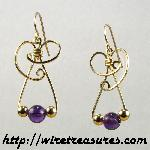Dainty Amethyst Bead Earrings II