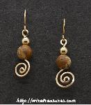 Scenic Jasper & GF Bead Swirled Earrings