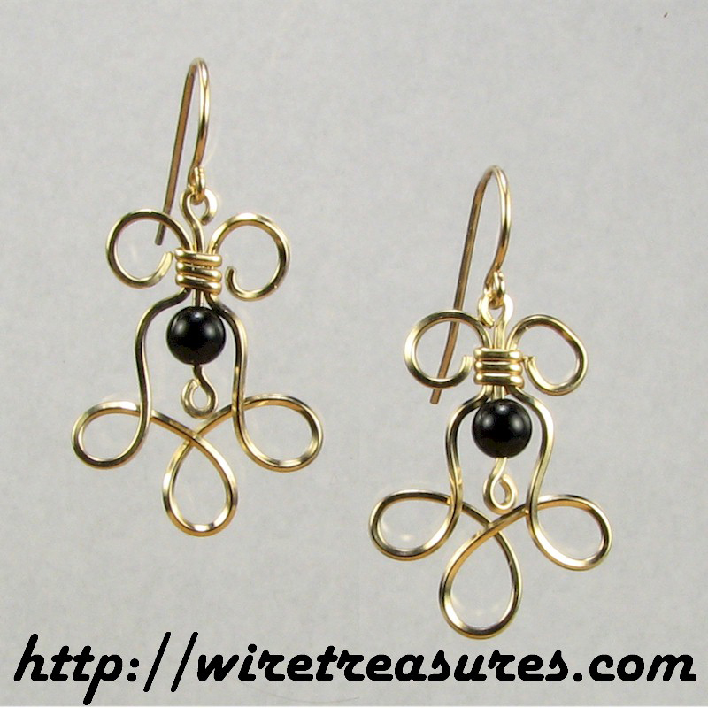 Loopy Earrings with Onyx Beads