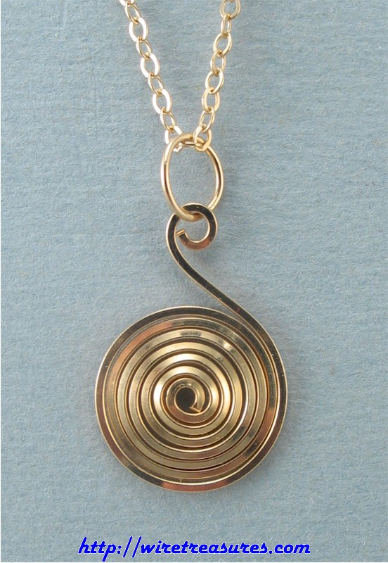 14K Gold Filled Tight Curl Pendant
