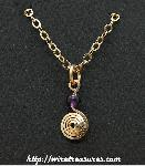 Curl with Amethyst Bead Pendant