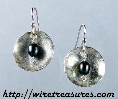Silver Buttercup Earrings