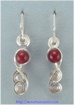 Carnelian Curly-Q Earrings