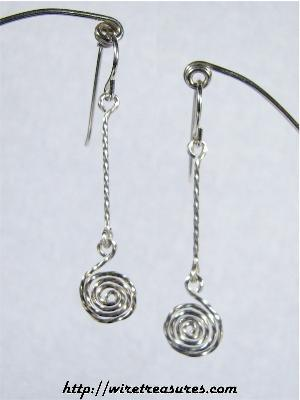 Curl-on-Twist Earrings