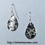 Sticks-and-Stones Silver Earrings