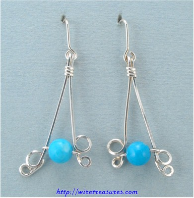 Howlite Bead Sterling Silver Earrings