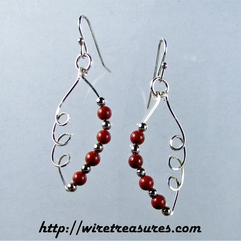 """Jasper and Sterling and Loops, Oh My"" Earrings"