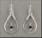 Swinging Onyx Bead Earrings