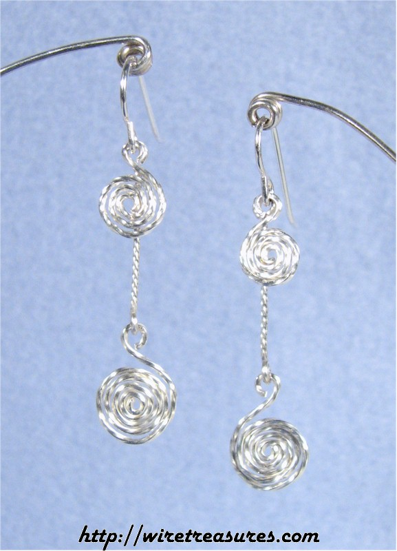 Double Sprial Wire Earrings