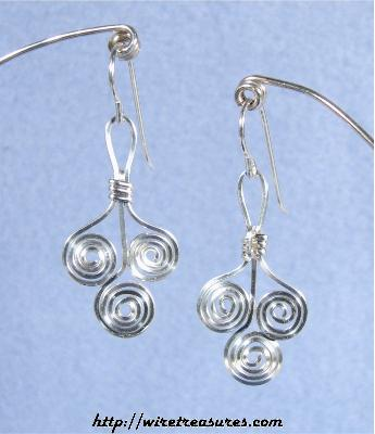 Triple-Coil Wire Earrings