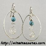 Big Loop Earrings with Turquoise Beads