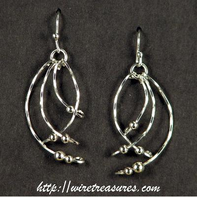 Crazy Wire Earrings with Sterling Beads
