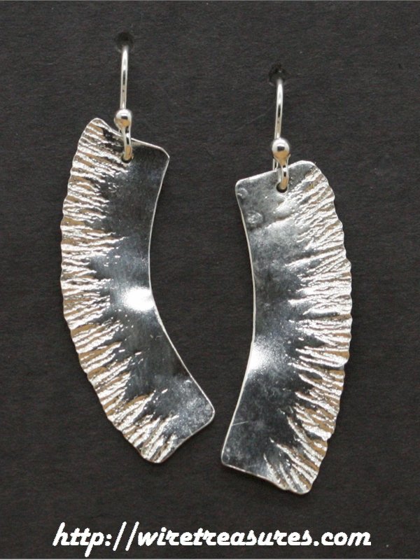 Silver Strip Earrings