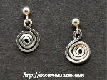Curly Earrings with Ball Pst