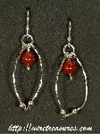 Hold-Me-Close Carnelian Bead Earrings