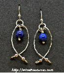 Hold-Me-Close Lapis Bead Earrings