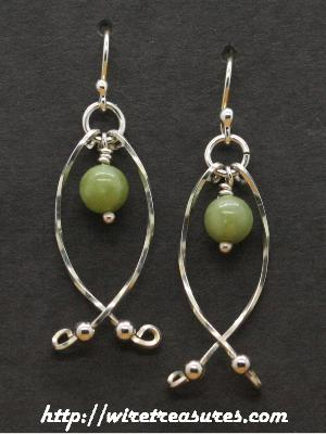 Hold-Me-Close Nephrite Jade Bead Earrings