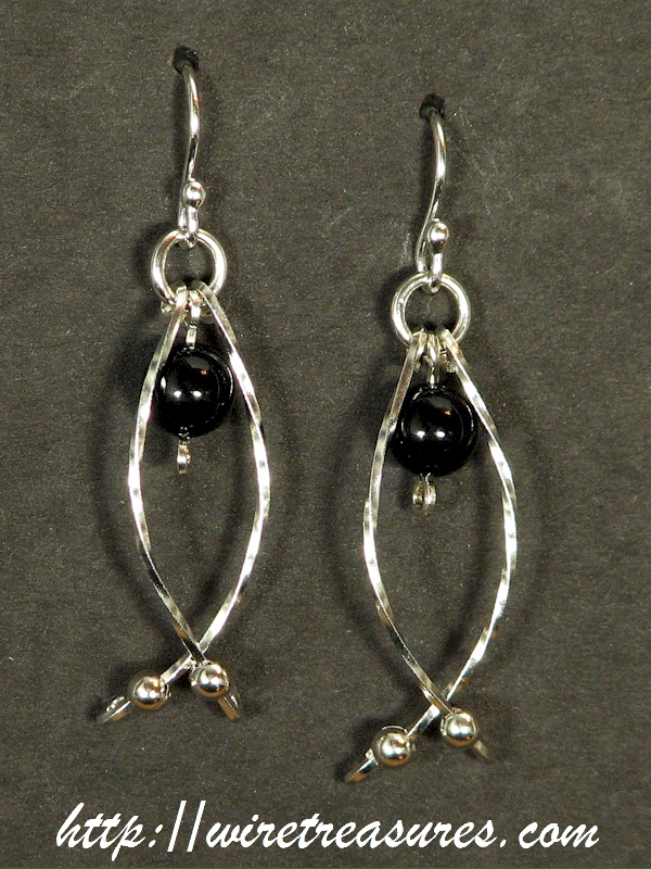 Hold-Me-Close Black Onyx Bead Earrings
