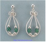 Aventurine Beaded Earrings