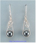 Swirly Hematite Bead Earrings