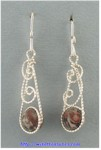 Swirly Leopardskin Jasper Bead Earrings