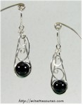 Swirly Onyx Bead Earrings