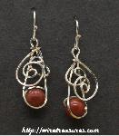 Swirly Red Jasper Bead Earrings