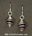 Cage Earrings with Amethyst Beads