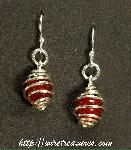 Cage Earrings with Carnelian Beads