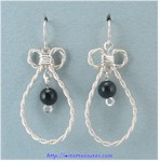 Single Onyx Bead French Wire Earrings