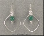 "Aventurine ""Bead-in-a-Box"" Earrings"