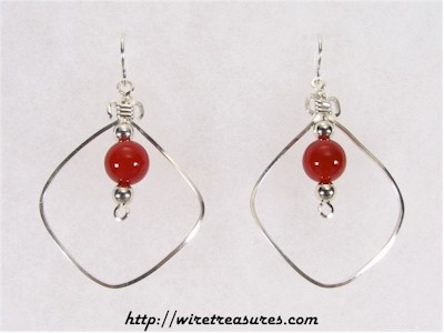 "Carnelian ""Bead-in-a-Box"" Earrings"