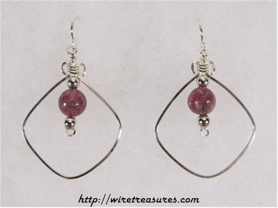 "Rhodonite ""Bead-in-a-Box"" Earrings"
