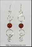 Double-S Earrings with Poppy Jasper Beads