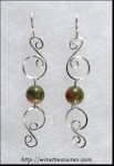 Double-S Earrings with Unakite Beads