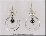 Double Loop Earrings with Hematite Beads