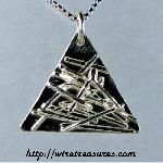 Sticks and Stones Silver Pendant