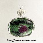 Rubies in Zoisite Pendant